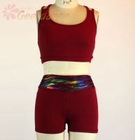 Geerdance Cotton lycra Crop tops and Shorts, assorted colors tops and shorts 20x0006 20x0007
