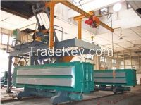 Gypsum partition board production machine