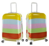 Colorful picture print ABS+PC hard shell case size 20 24 28 luggage set