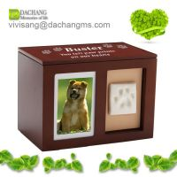 wooden paw print pet urns pet memory box