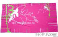 Ethnic Beach Towel With Reactive Printing
