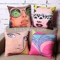 Beautiful girl! Jacquard sofa pillow set!