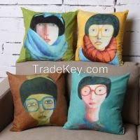 Young Art Women with glasses