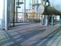 Galvanized flooring steel grating