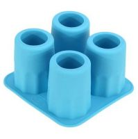 Silicone Cool 4 Cavity Cup Round Ice Cube Tray Shot Glass Maker DIY Mold