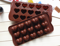 Silicone 15 Cup Heart Shape Chocolate Cake Jelly Candy Mold Mould