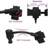 Car Charger Holder (Dual USB Ports for iPhone 5)