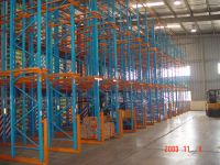 Drive-in and Drive-out Warehouse Storage Rack System