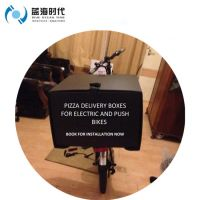 Corrugated plastic correx pizza delivery box for scooter