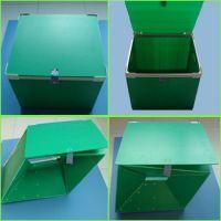 Foldable polypropylene corrugated shipping box