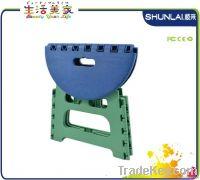 Plastic folding furniture, folding ottoman, folding step stool