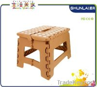 Plastic folding step stool for traveling, fishing, home furniture