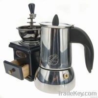 2/4/6/9 cups Stainless Steel electric italian coffee maker