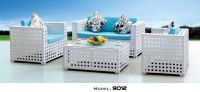 Hot sale Rattan cane outdoor furniture garden set for sandy beach balcony and lawn