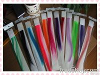 Hot selling ! Fashion fancy colors high quality synthetic clip in hair extension