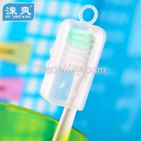 Orthodontic toothbrush, V shaped cutting, suitable for the cleaning of orthodontic appliance