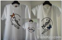 family t-shirt design LOGO -customized model 100% cotton