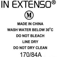 Care label  transfer  for t-shirt