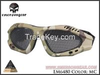 Outdoor Airsoft Tactical Sporty Metal Mesh Eyes Protection Shooting Goggles