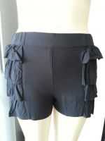 LADIES' 100% VISCOSE FLOWER SHORTS