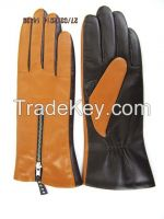 leather glove with zipper