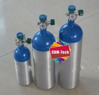 Aluminum Oxygen Cylinder with Valves & Regulator