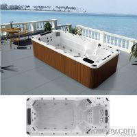 Freestanding Swimming Massage SPA Whirlpool Hot Tub with 4 Seats