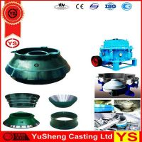 cone crusher spare parts, cone crusher cone concave, cone crusher bowl liner