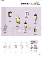 Cast aluminum residential antique modern outdoor LED wall lamp