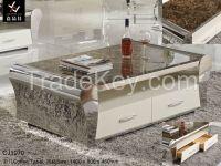 Modern Stainless Steel Coffee Table