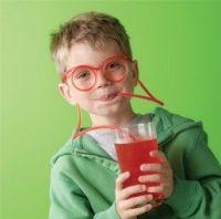 Drinking glasseyes straws, silly straws