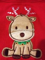 """""""I've Been Good Mostly"""" Red New christmas bib"""