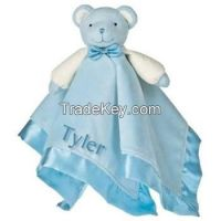 soft touch knitted bear baby blanket