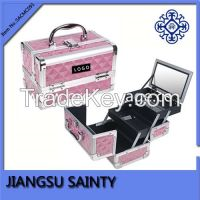 SACMC091 Diamond ABS beauty aluminum cosmetic case and box
