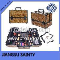 SACMC088 leopard printing aluminum professional make up case