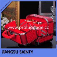 SACMC013 Glossy PU professional beauty box glitter makeup vanity case