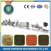 China floating fish feed pellet extruder machine