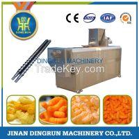 Puff corn snack food processing line / snack extruder machine