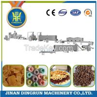 corn flakes breakfast cereal processing line / extruder machine