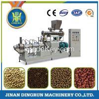floating fish food pellet making machine / fish feed extruder machine