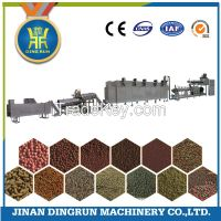 floating fish feed pellet extruder machine / production line