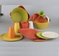 Bamboo fiber biodegradable and eco friendly dinnerwares