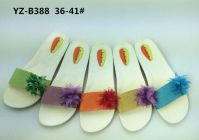 Newest Women's PCU Flat Slippers with Fabric Flower