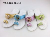 Newest Women's PCU Flat Slippers with Fashional Accessory