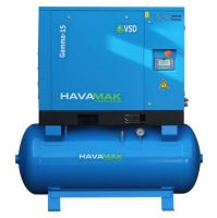 Air Compressor GAMMA-15 Tank Mounted inverter driven