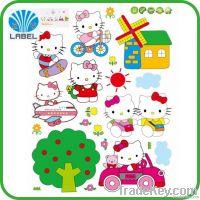 2014 popular cartoon sticker for kids, custom cartoon sticker