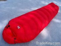 Popular down filling mummy sleeping bag for camping
