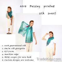 2014 Paisley printed silk scarf