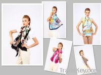 Spring silk chiffon scarves