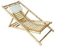 beach folding bamboo chair